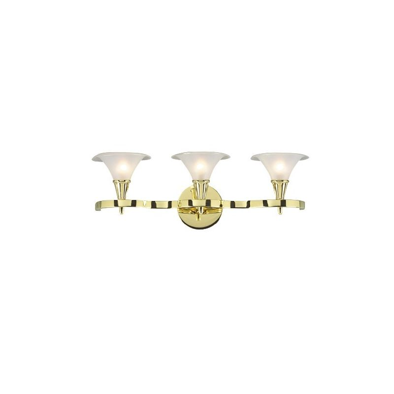 Liz Jordan Lighting 47015 Polished Brass Martini 3 Light Bathroom Fixture From The Martini