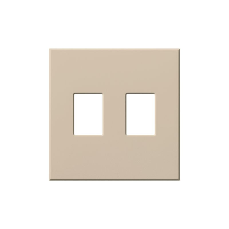 Lutron vwp2 architectural two gang wall plate for two dimmers or switches gray indoor lighting - Gang grijze taupe ...