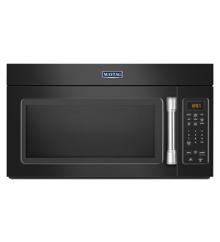 Maytag MMV1174D 220 CFM 30 Inch Wide Over the Range 1.9 Cu. Ft. Microwave with S Black Microwave Ovens Over-the-Range