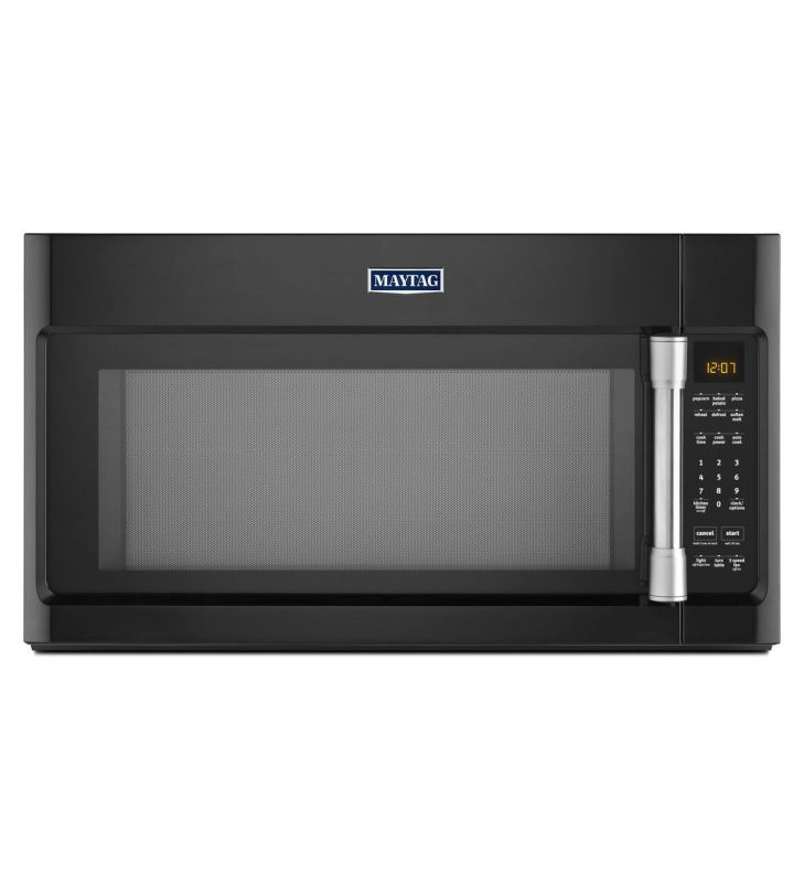 Maytag MMV4205D 400 CFM 30 Inch Wide Over the Range 2.0 Cu. Ft. Microwave with S Black Microwave Ovens Over-the-Range
