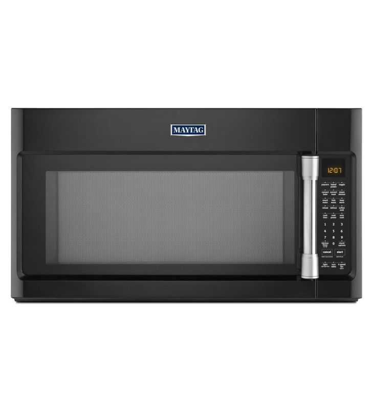 Maytag MMV6190D 30 Inch Wide 1.9 Cu. Ft. 400 CFM Over the Range Microwave with E Black Microwave Ovens Over-the-Range