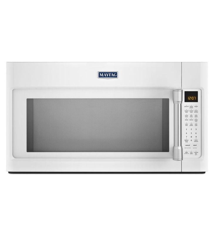 Maytag MMV6190D 30 Inch Wide 1.9 Cu. Ft. 400 CFM Over the Range Microwave with E White Microwave Ovens Over-the-Range