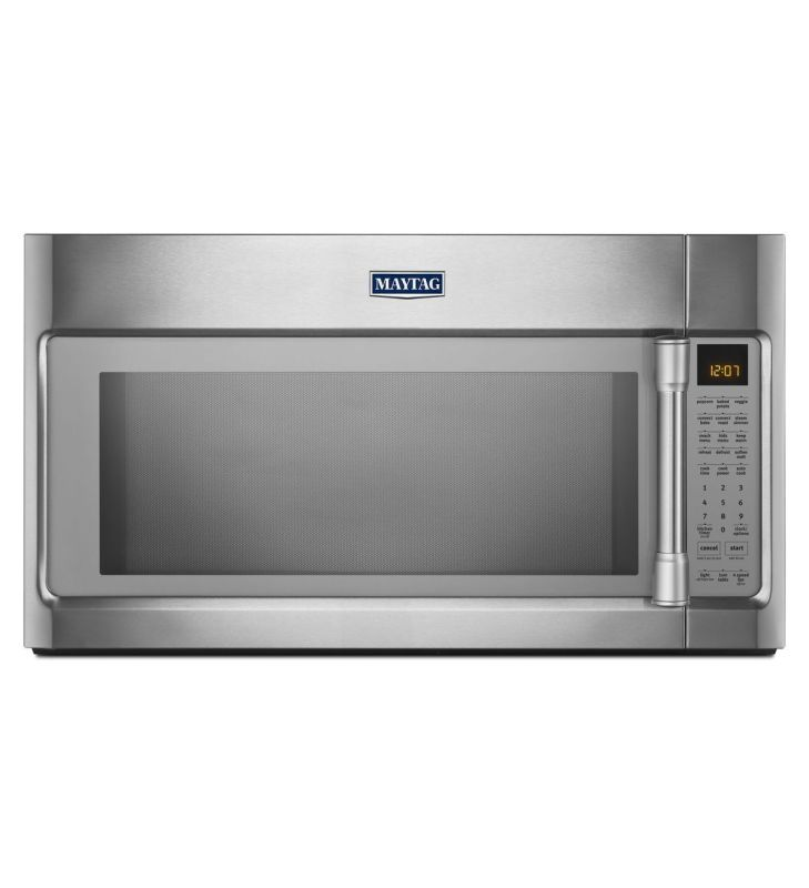 Maytag MMV6190D 30 Inch Wide 1.9 Cu. Ft. 400 CFM Over the Range Microwave with E Stainless Steel Microwave Ovens Over-the-Range