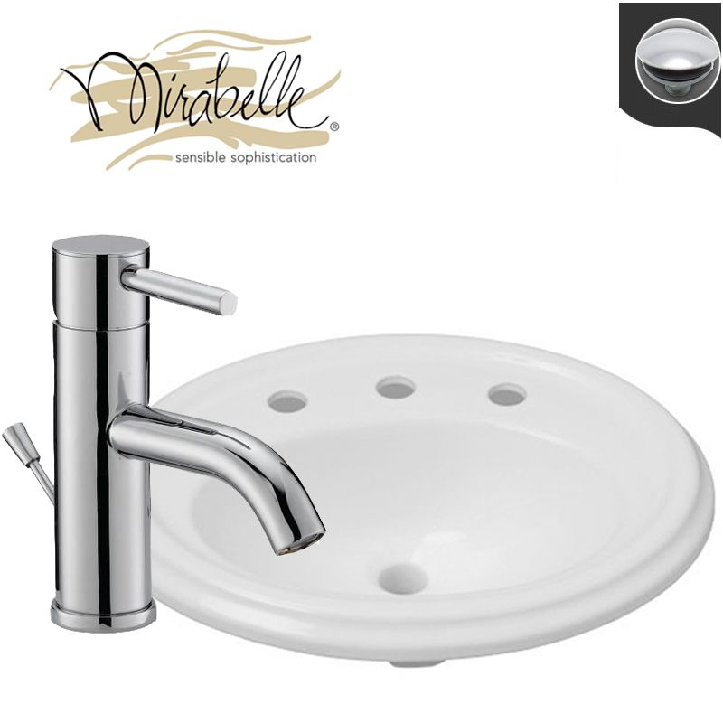 cp polished chrome faucet 22 drop in acrylic bathroom sink