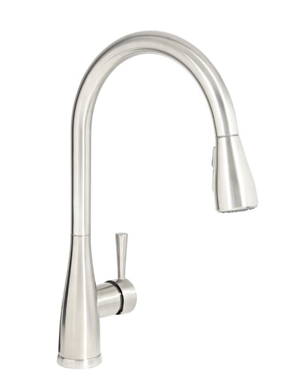 Mirabelle Mirxcca100ss Stainless Steel Calverton Pullout Spray Kitchen Faucet With High Arch
