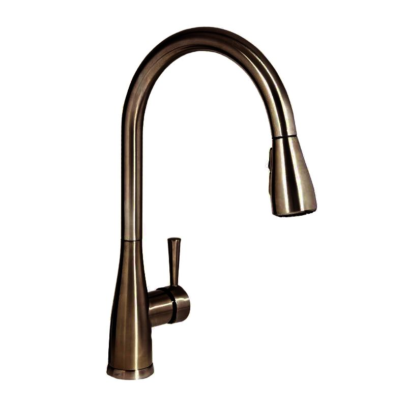 Mirabelle Mirxcca100orb Oil Rubbed Bronze Calverton Pullout Spray Kitchen Faucet With High Arch