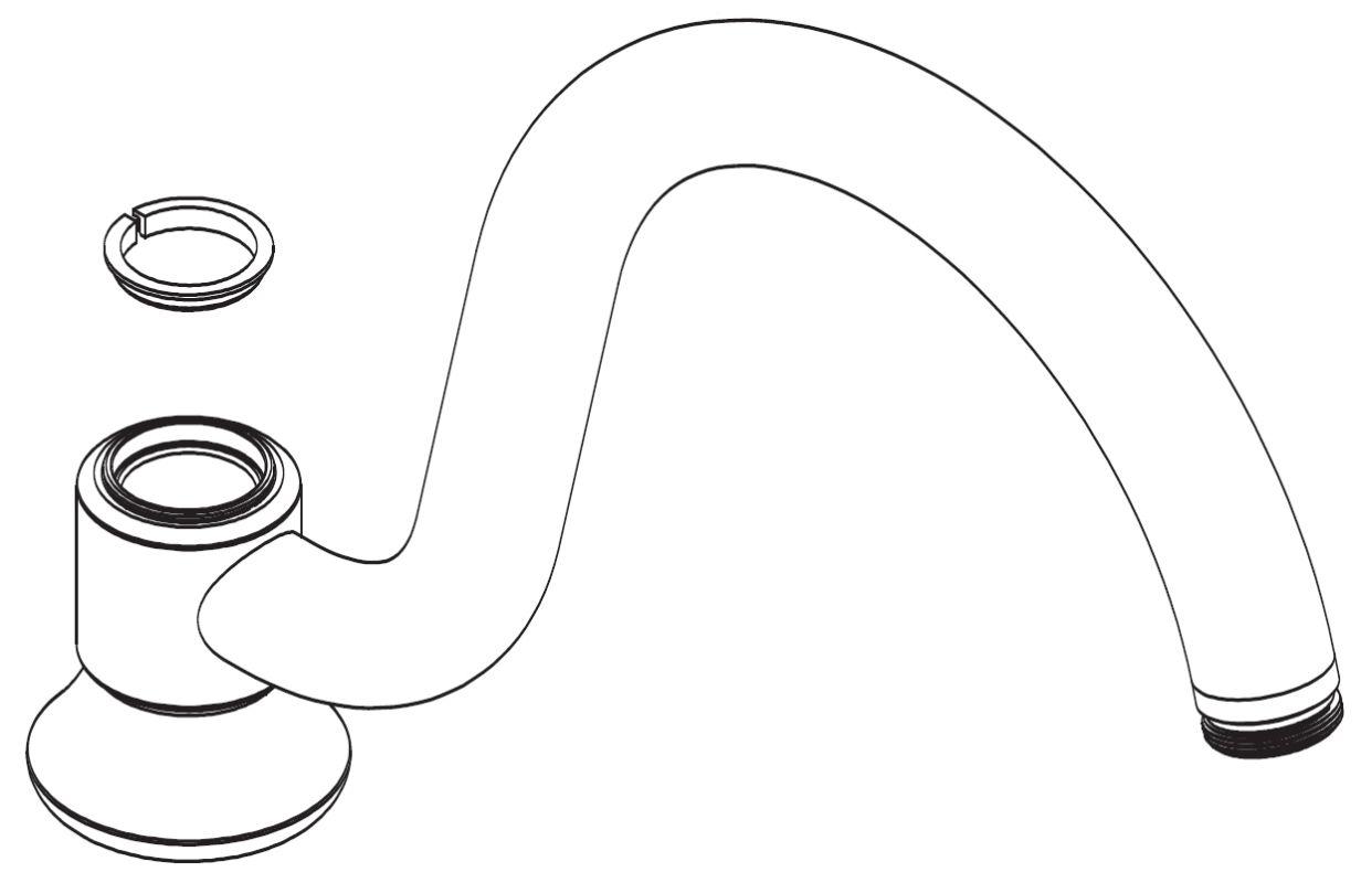 moen 116641 chrome replacement universal spout kit. Black Bedroom Furniture Sets. Home Design Ideas
