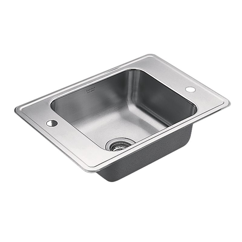 Stainless Steel Utility Sink Drop In : ... Basin Drop-In 20-Gauge Stainless Steel Utility Sink - FaucetDirect.com