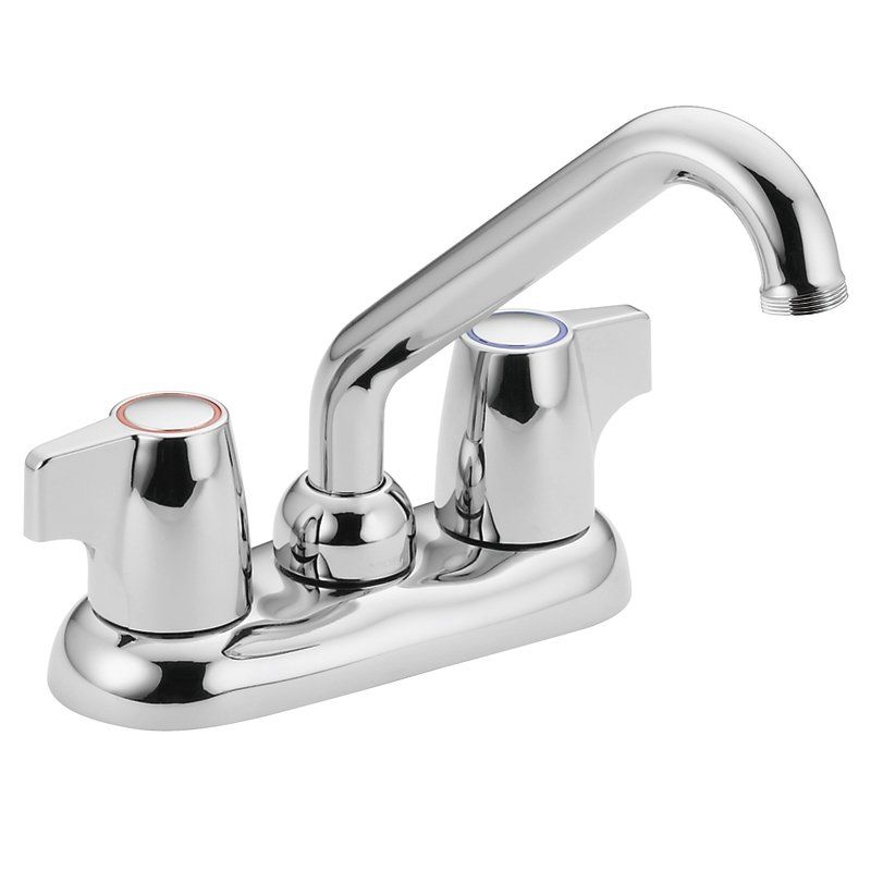 Faucet Utility Sink : Moen 74998 Chrome Double Handle Laundry from the Chateau Collection ...