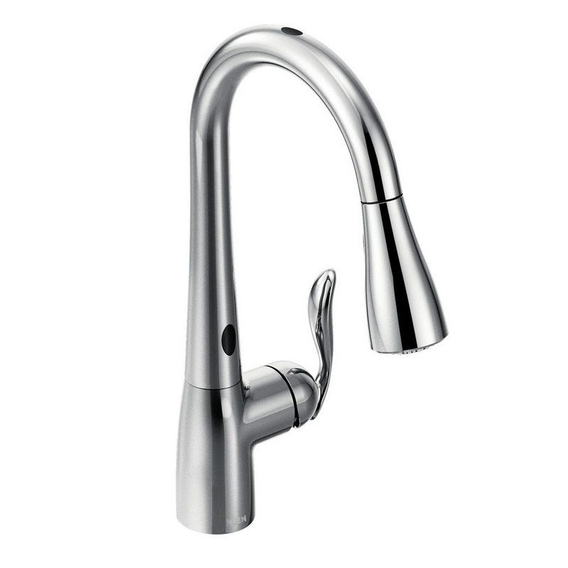 Moen 7594ec Chrome Single Handle Pullout Spray Kitchen Faucet With Motionsense And Reflex