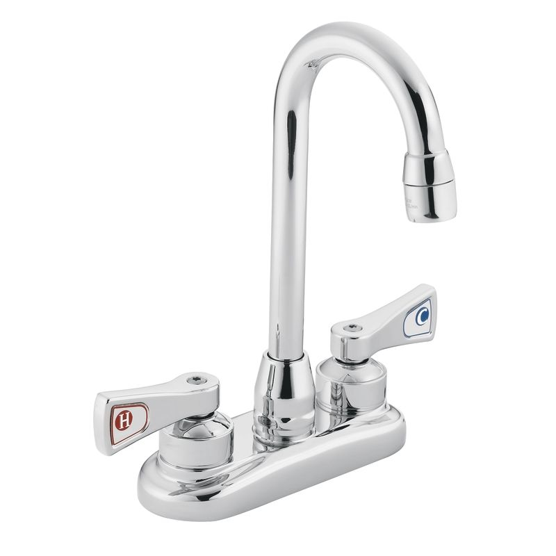 Commercial Bar Sink Faucet : Moen 8272 Chrome Commercial Bar Faucet from the M-DURA Collection ...