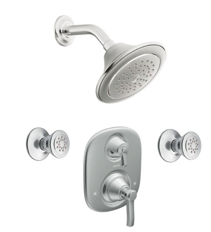 Moen 703 chrome pressure balanced shower system with for Body spray shower systems