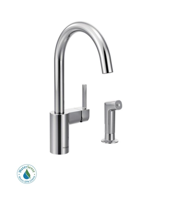 moen ca87011srs single handle kitchen faucet with pullout moen 7185 brantford single handle kitchen faucet with pull