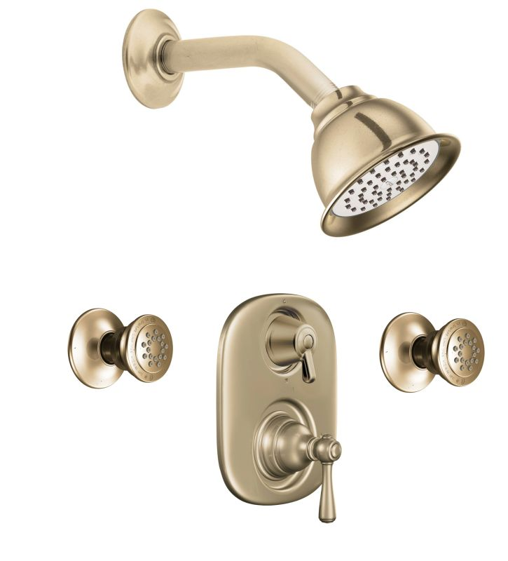 Moen 763az antique bronze pressure balanced shower system for Body spray shower systems