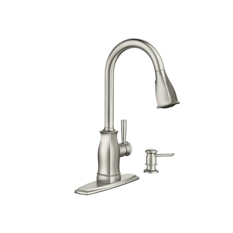 moen ca87550 single handle kitchen faucet with pullout