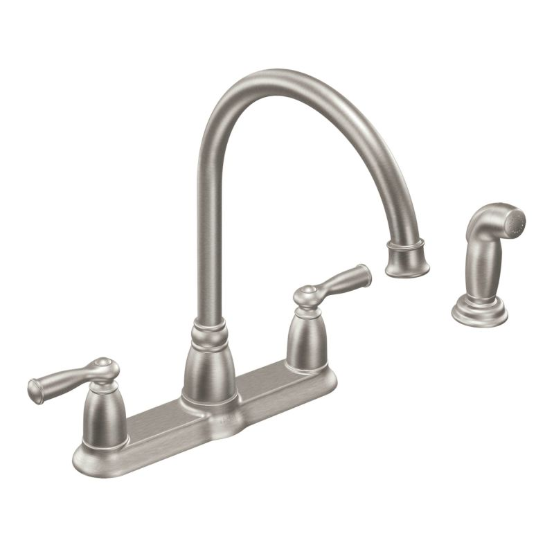 Moen Ca87000 Chrome High Arc Kitchen Faucet With Side Spray From The Banbury Collection