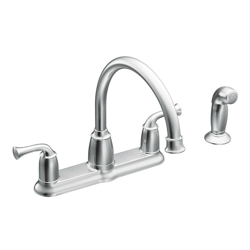 Moen CA87553 Chrome High Arc Kitchen Faucet With Side Spray From The Banbury