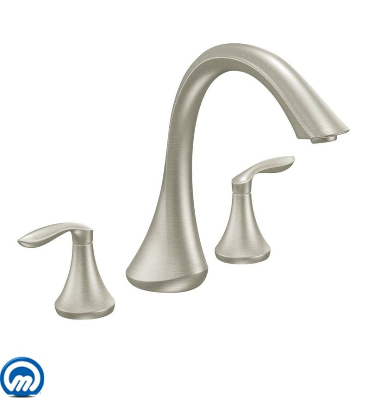 Moen T943 Deck Mounted Roman Tub Faucet Trim From The Eva Collection Less Val