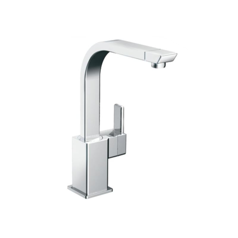 Moen s7170 chrome high arc kitchen faucet from the 90 degree collection for Moen 90 degree bathroom faucet