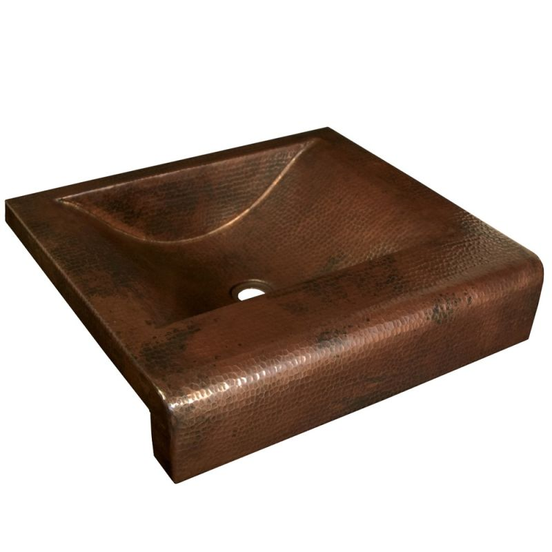 Native Trails Cps241 Antique Copper Palisades 20 Copper Drop In Bathroom Sink