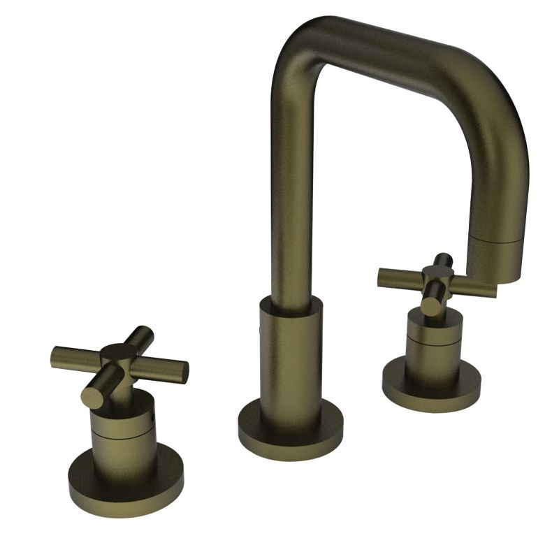 Newport brass 1400 06 antique brass east square double handle widespread lavatory faucet with Newport brass bathroom faucets