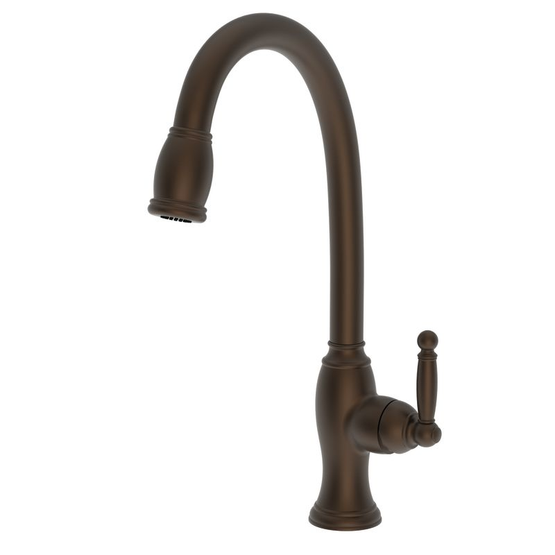 Newport Brass 2510 5103 07 English Bronze Nadya Single Handle Kitchen Faucet With Pull Down