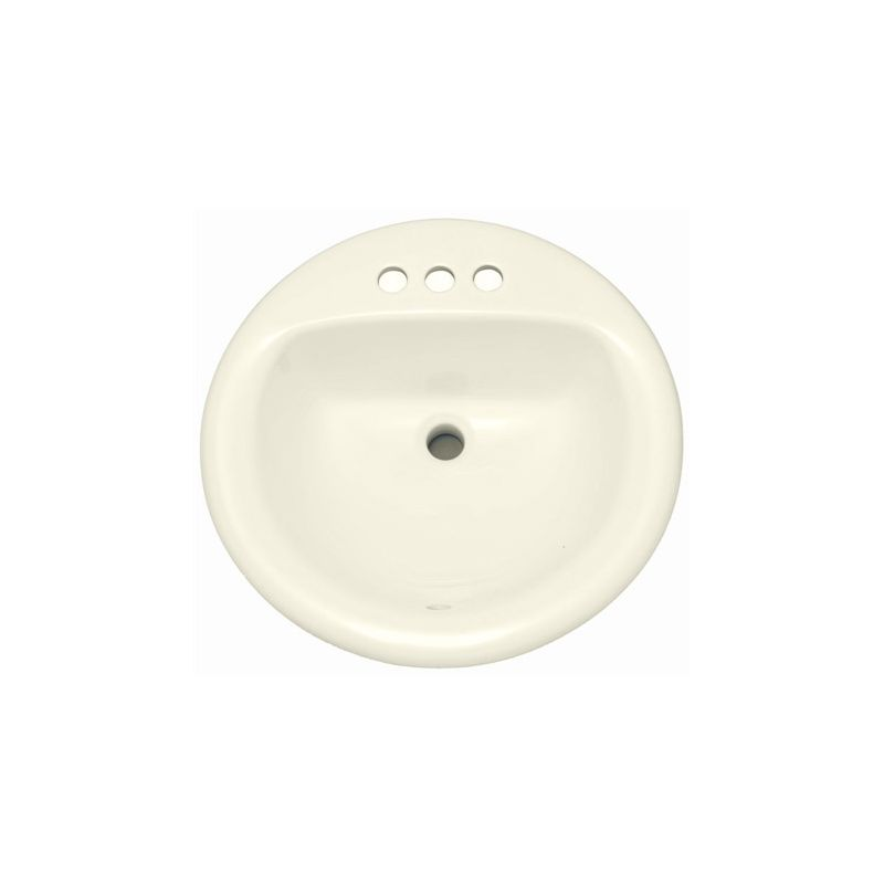 proflo pf194rbs biscuit 19 self rimming drop in oval bathroom sink 3 holes drilled. Black Bedroom Furniture Sets. Home Design Ideas