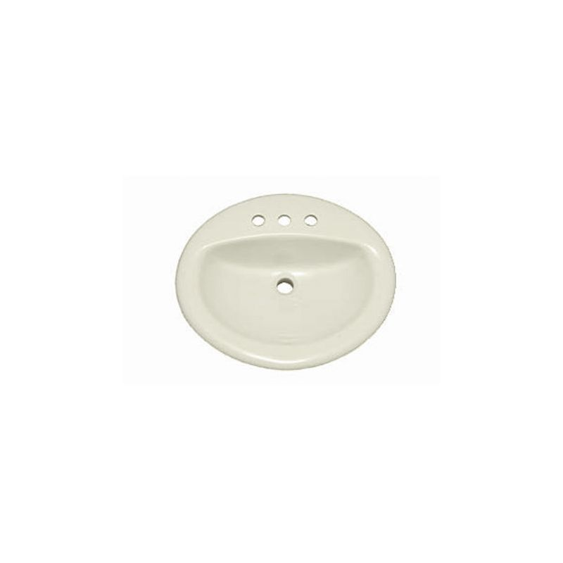 19 round bathroom sink proflo pf198rbs biscuit 19 quot self bathroom 15262
