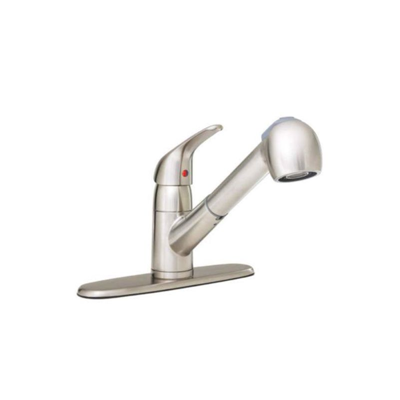 proflo pfxc5150bn brushed nickel pullout spray kitchen faucet com pfxc7011bn in brushed nickel by proflo