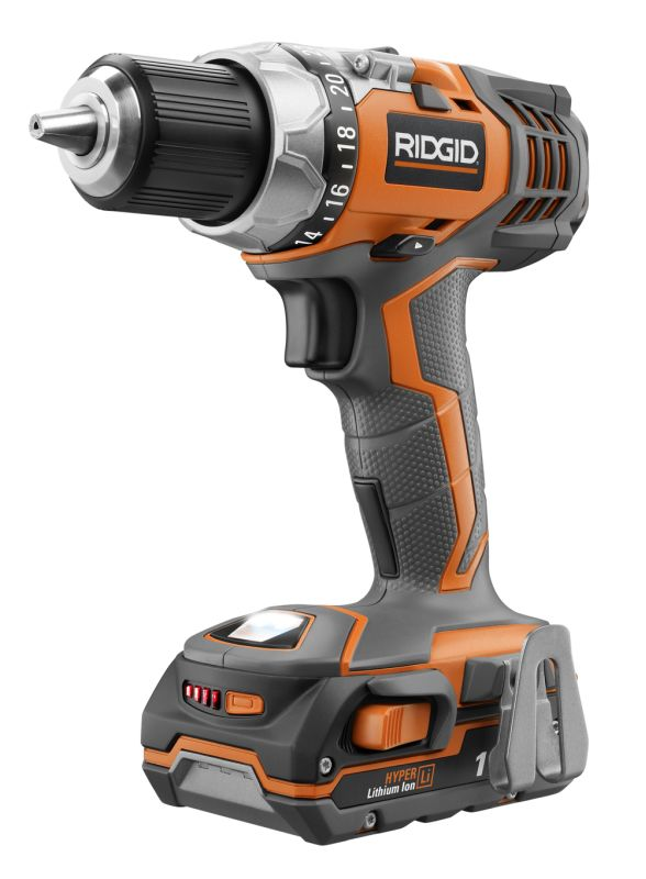 Ridgid 40643 FUEGO 18V Lithium Ion Compact Drill\/Driver R86008K N\/A Power Tools Cordless Drills