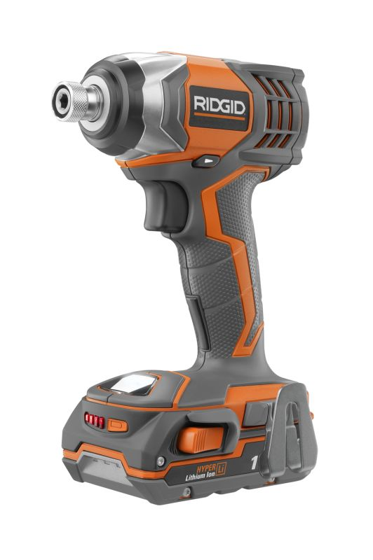 Ridgid 40648 X4 18V Lithium Ion Impact Driver Kit R86034K N\/A Power Tools Cordless Drills