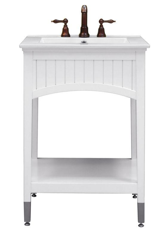 "Sagehill Designs SA2421 Seaside White Seaside 24"" Vanity"