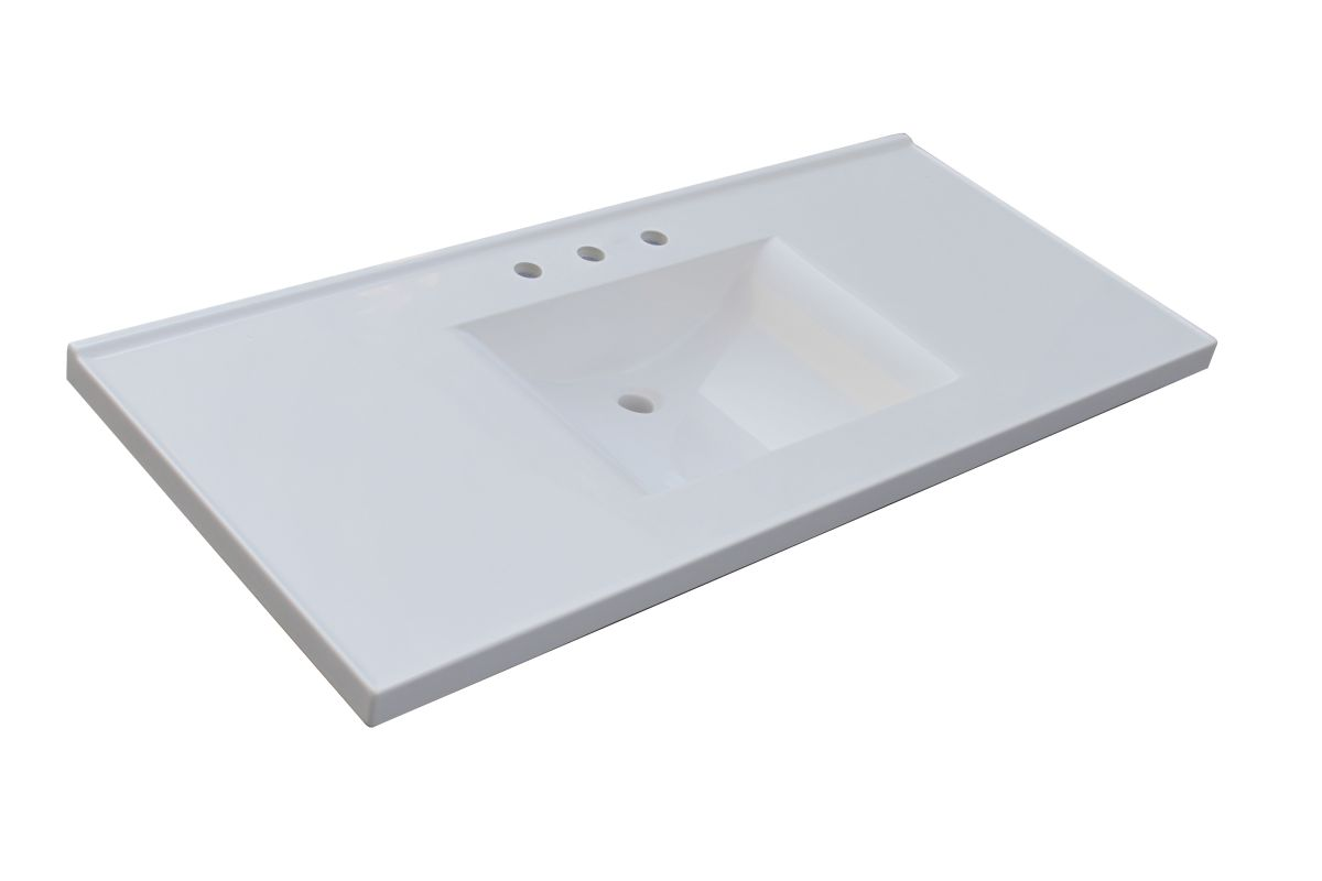 Sagehill designs wb4922 w white 49 quot cultured marble vanity top with