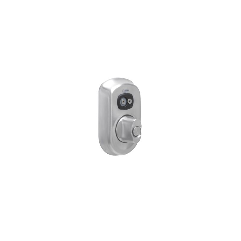 Schlage BE367-PLY Plymouth Computer Managed Programmable Electronic Deadbolt Satin Chrome Deadbolt Electronic