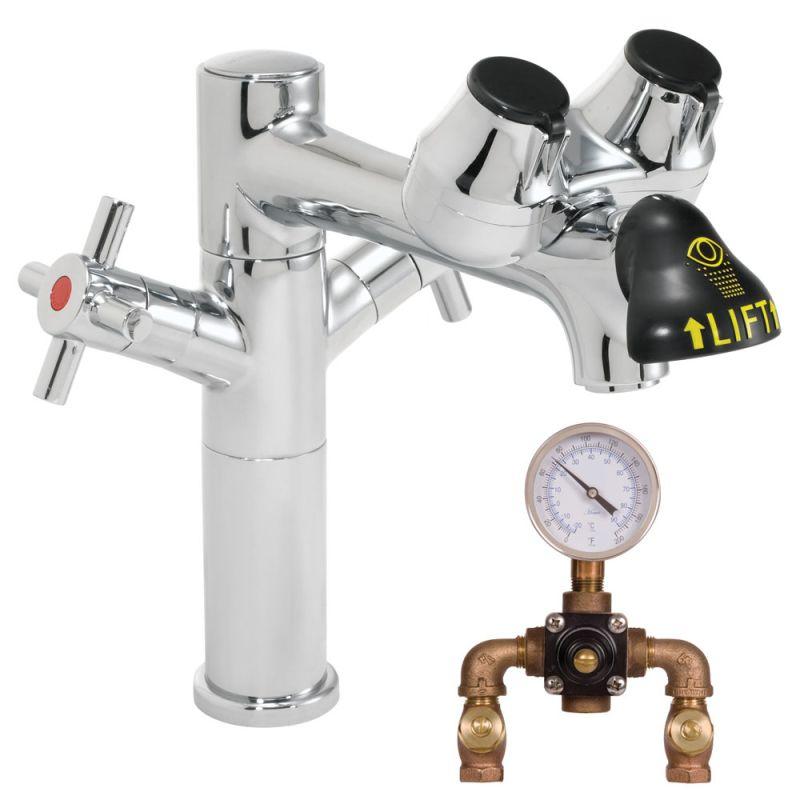 Speakman Sef 1850 8 Tw Polished Chrome Eyesaver Single Post Laboratory Faucet
