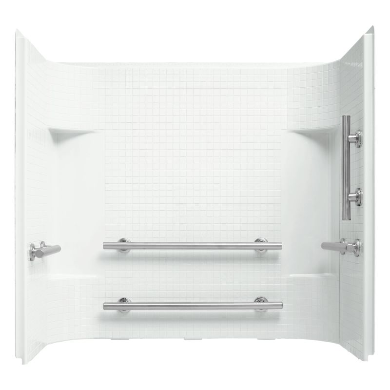 Sterling 71144123 Accord 55 x 59-3/8 x 31-1/4 Vikrell Shower Wall Set with Gr White Showers Vikrell