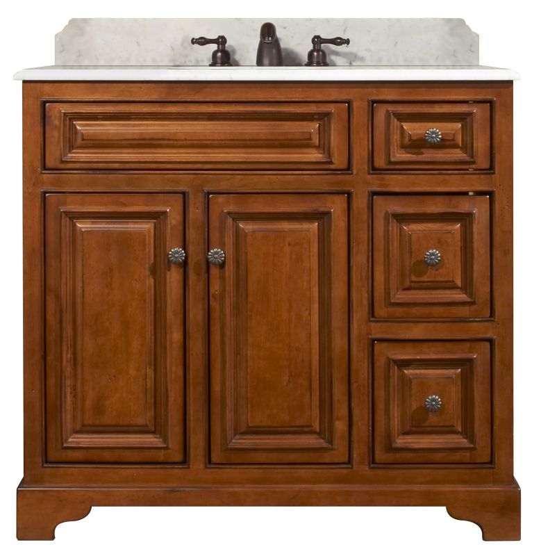 "Sunnywood Kitchen Cabinets: Sunny Wood CB3621D Medium Maple Cambrian 36"" Maple Wood"