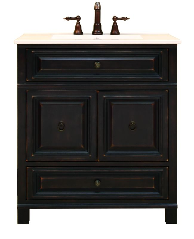 """Sunnywood Kitchen Cabinets: Sunny Wood BH3021D Antique Black Barton Hill 30"""" Wood"""