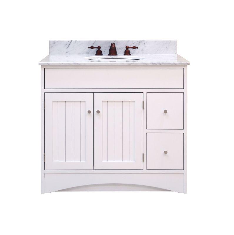 "Sunnywood Kitchen Cabinets: Sunny Wood WT3621D White Whiting Tavern 36"" Maple Wood"