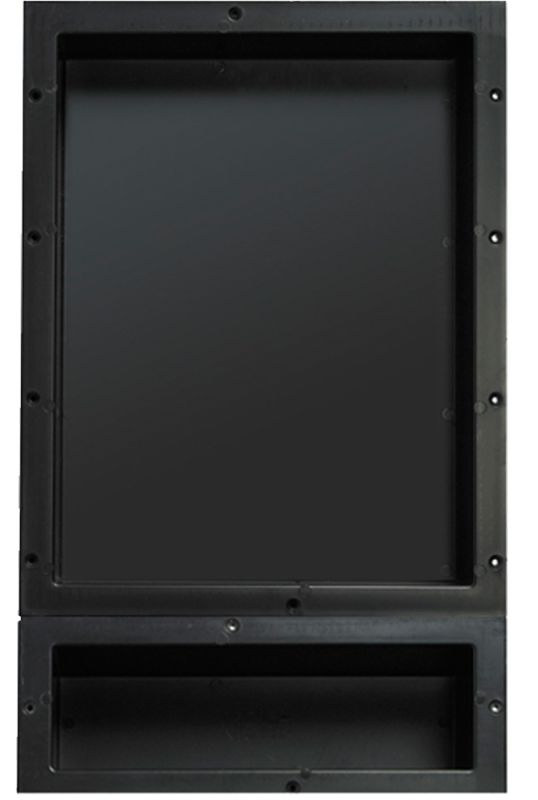 Tile redi rnd1620s 6 black redi niche double recessed for Bathroom medicine cabinets 16x20