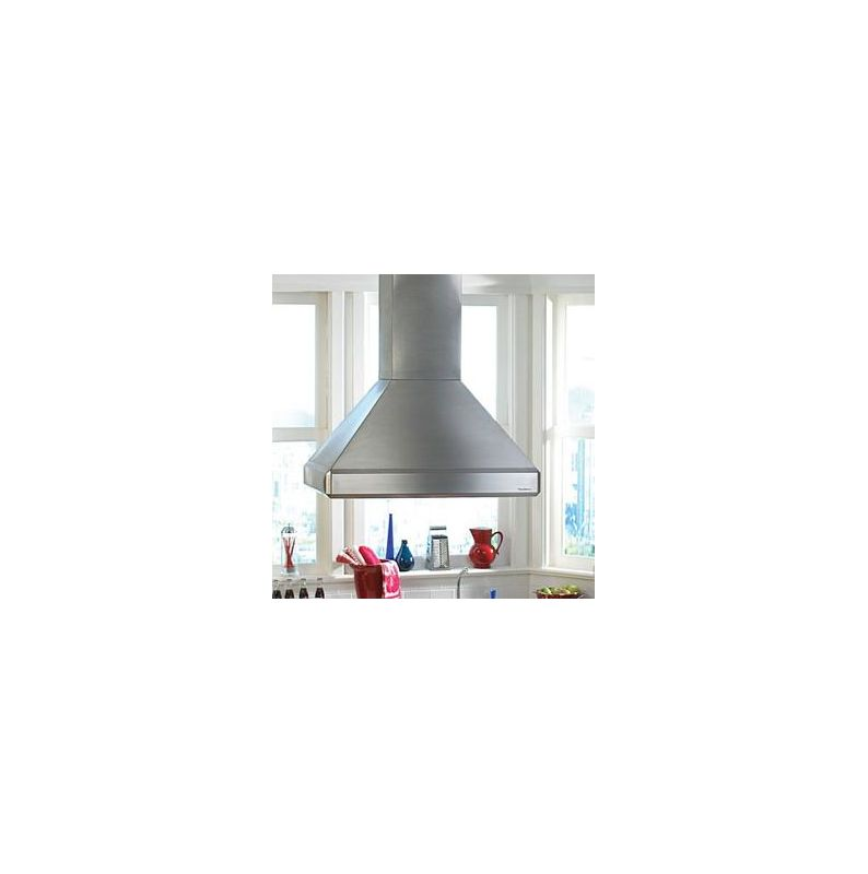 Vent-A-Hood ISDH18-248 550 CFM 48 Euro-Style Island Mounted Range Hood with Hal Stainless Steel Range Hood