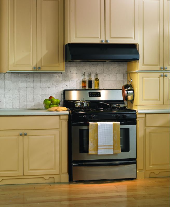 Vent-A-Hood SLH9-242 600 CFM 42 Under Cabinet Range Hood with Dual Blowers and Black Range Hood