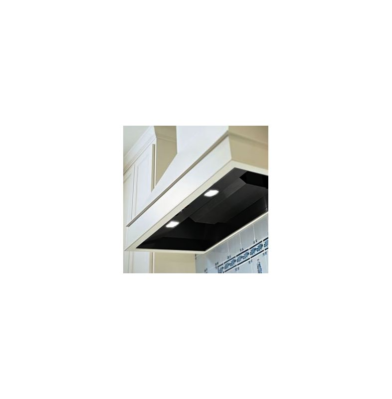 Vent-A-Hood BH246SLD 600 CFM 6.5 Sone 46-3\/8 Inch Wide Stainless Steel Wall Moun Black Range Hood