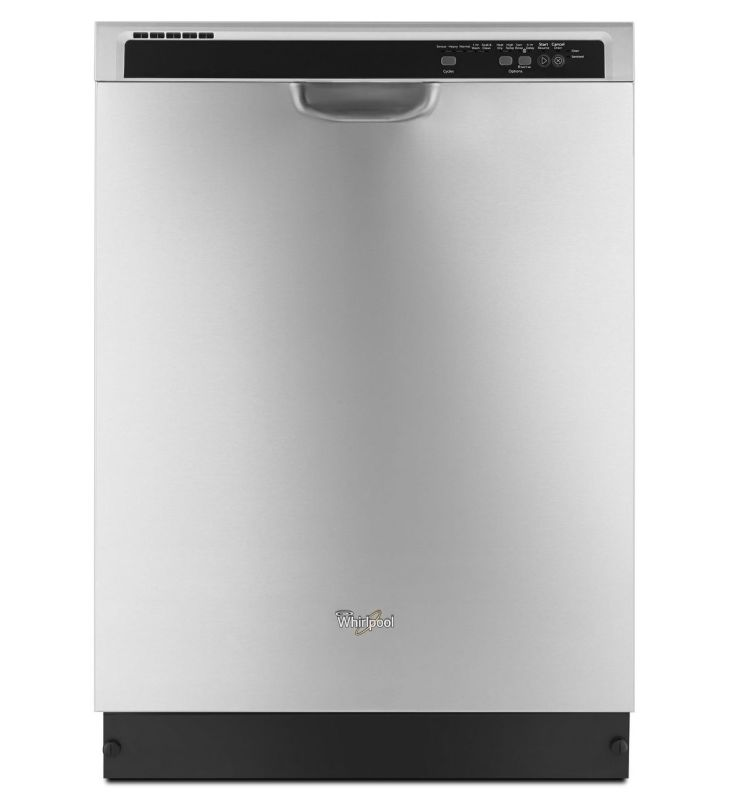 Whirlpool WDF540PAD 24 Dishwasher with Sensor Cycle Monochromatic Stainless Steel Dishwashers Built-In