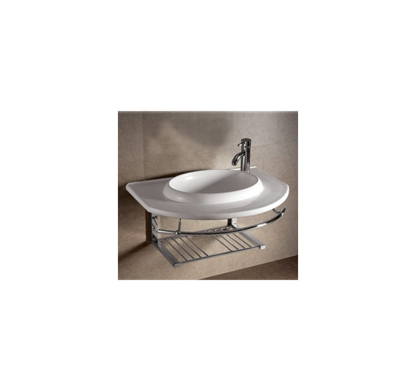 Whitehaus Whkn1124 Wh White Isabella 35 3 4 Inch Wall Mounted Porcelain Lavatory Console With