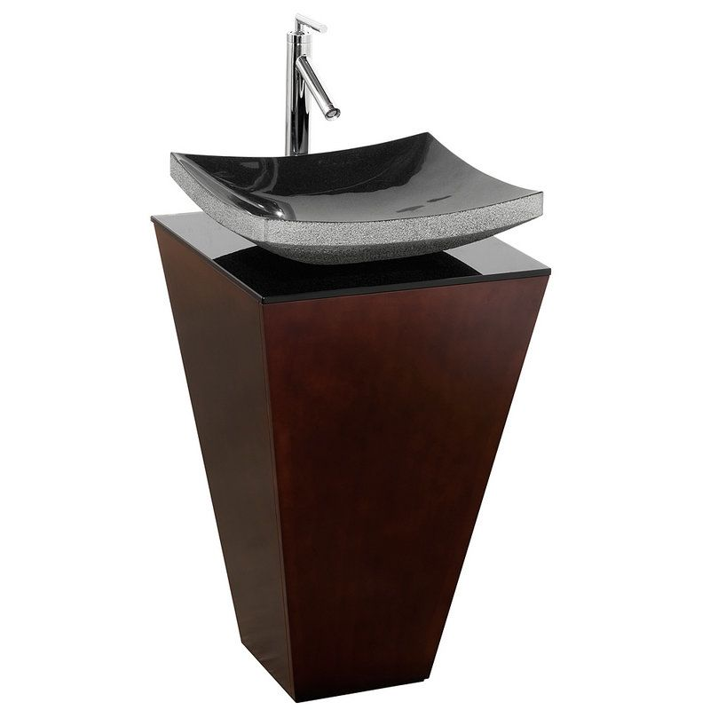 Pedestal Sink Base Cabinet : ... Pedestal Vanity Set - Includes Cabinet, Glass Top, Mirror and Ceramic