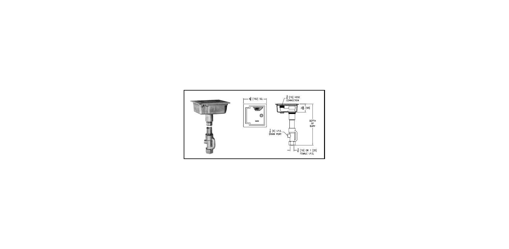 Zurn Z1360 2 3 4 Hd 8 3 4 Inch 3 4 Quot Encased Flush Ground