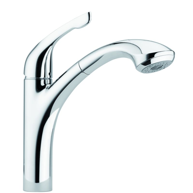 hansgrohe 04076000 chrome allegro e pull out kitchen