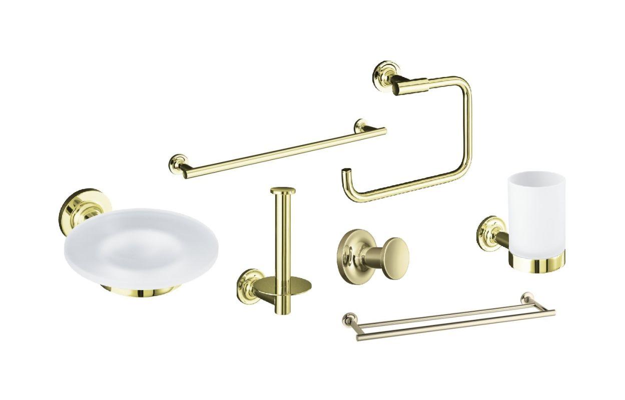 Kohler Pedestal Sink Towel Bar : Kohler Purist Best Accessory Pack-AF French Gold 24