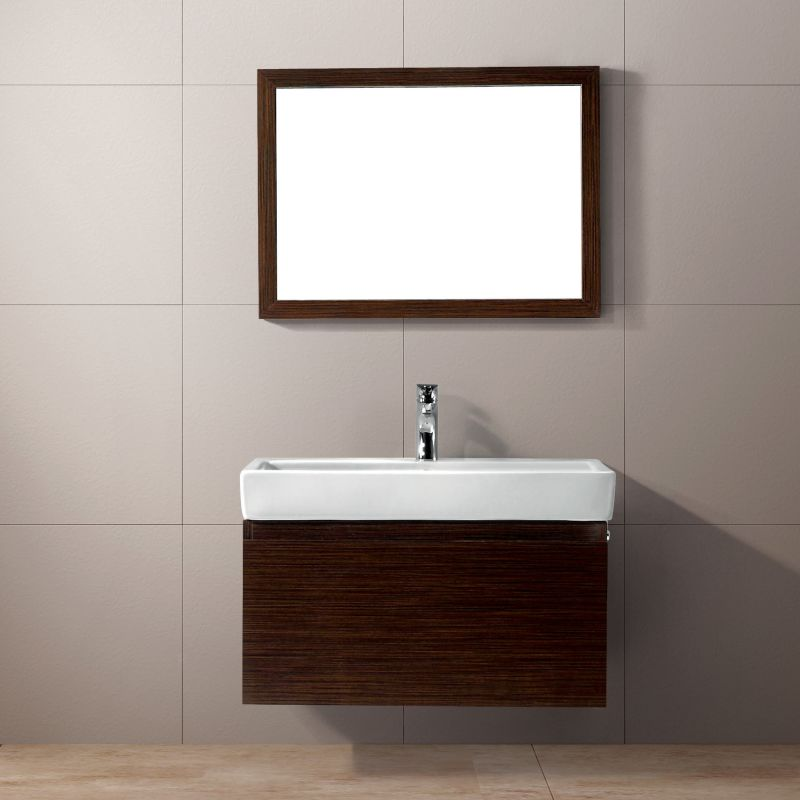 Vigo vg09018118k wenge agalia 30 1 2 single bathroom for Wenge bathroom mirror